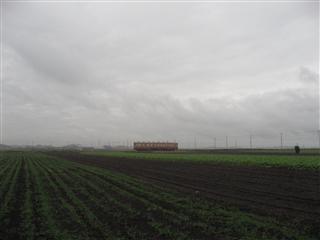 残しておきたい景色です。湊線の走る台地
