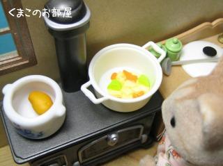 野菜を炒めましょう