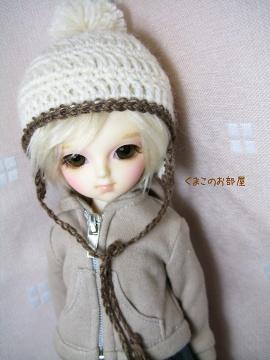 絹ちゃん帽子♪