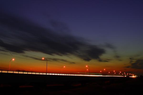 新鬼怒橋の夕景