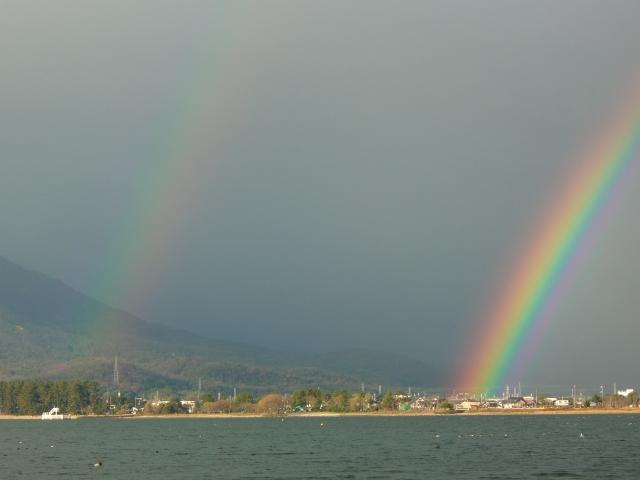 今年最後に見た虹