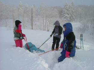 スキーソリによる搬出