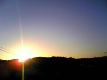 空 朝日 夜明け