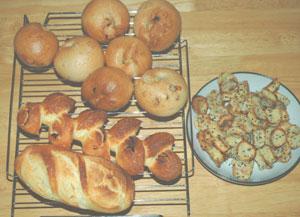 今日のベーグルとフランスパン