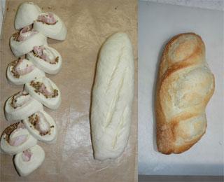 フランスパン・焼く前と後