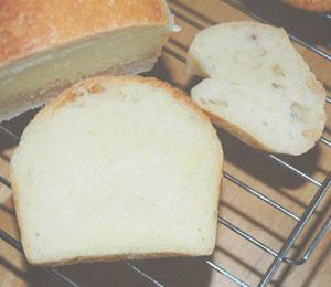 ケフィア酵母のパンの断層