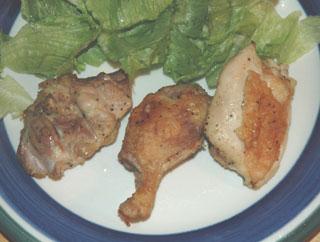 鶏肉のレモンハーブ焼き