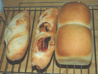 ゆず酵母の山食とフランスパン