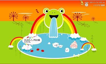 温泉での伊豆の踊り子夕方編