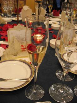 シャンパンと薔薇