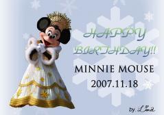 2007HAPPYBIRTHDAY・ミニー