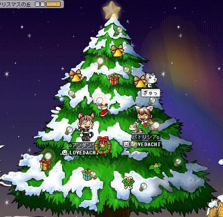 071221美帆ッチとクリスマスツリー