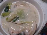 ハマグリと青梗菜のクリーム煮