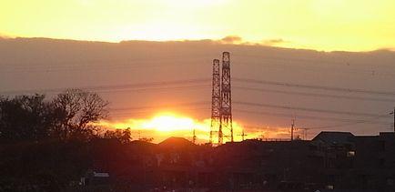 12月9日の夕焼け