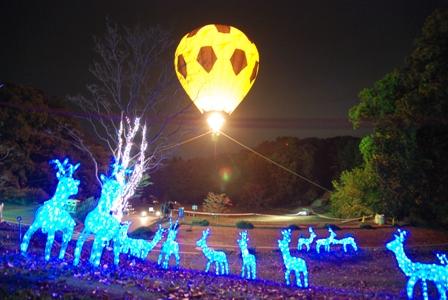 トナカイと気球