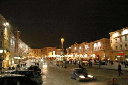 Linz クリスマスのHauptplatz