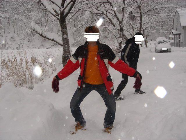 ひさびさの雪
