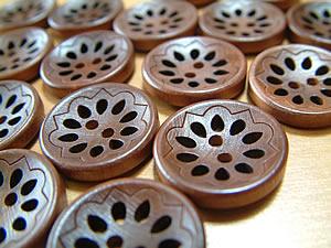つむぎさんのボタン ウッドカットワークボタン