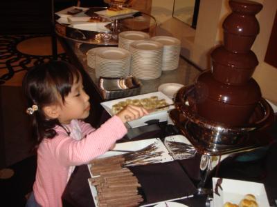 のどか初のチョコレートファウンテン