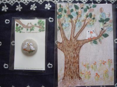 Risaさんのくるみボタン&カード