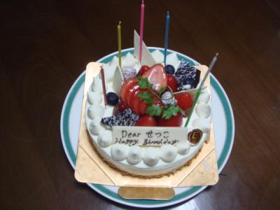 2007.11.4 ばあちゃんの誕生日ケーキ