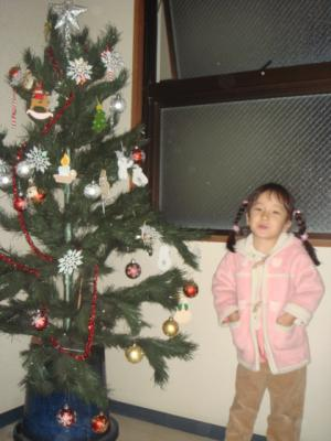 5歳 年中さん 保育園でのクリスマス1