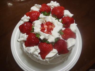 のどか5歳の誕生日7 ケーキ