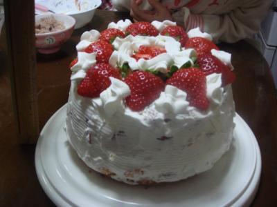 のどか5歳の誕生日8 ケーキ