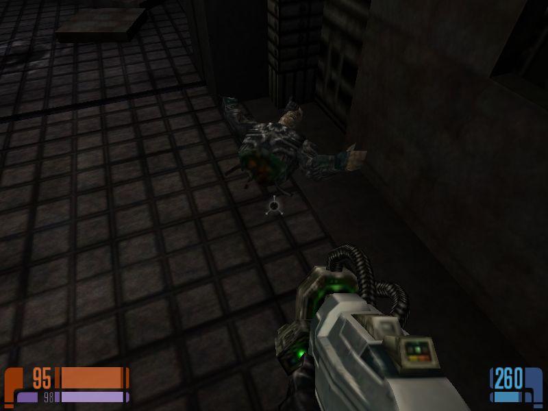AvP2に出てくるプレダリアンみたいな敵にやられたボーグ。