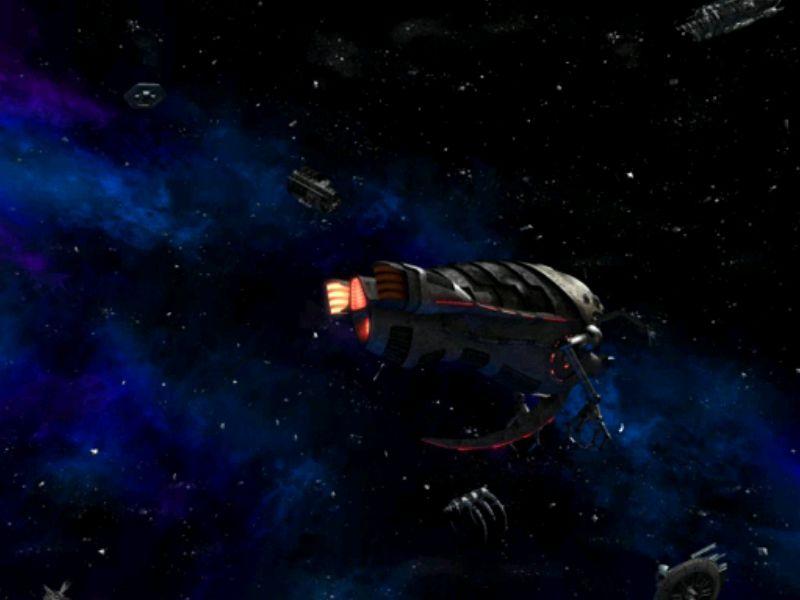 敵兵を倒され、尻尾を巻いて逃げる敵の宇宙船。しかし主人公達が乗り込んだことに気付いてはいない・・・。