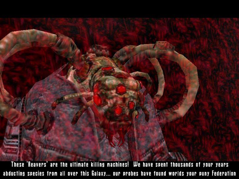 サイコキネシス(?)で頭の中に出てきて、海兵隊を苦しめながら警告を促す敵の大将。中にはこの攻撃で死ぬ奴も後に出てくるほど、強力な頭痛を与えてくる。