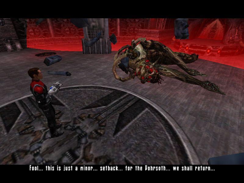 やられて横たわるボス。死に際の戯言を吐く暇があったら、さっさと荼毘に臥されな!