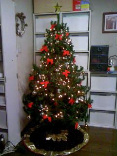 リビングのクリスマスツリー