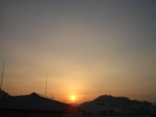 ようやく日の出