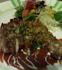 鶏の香草パン粉焼