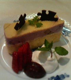 紅芋のケーキ