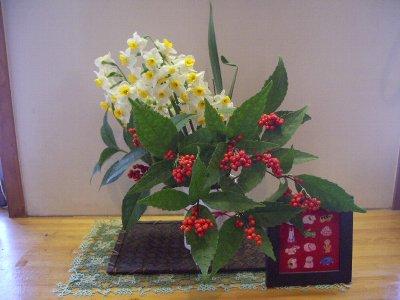 お正月の花400