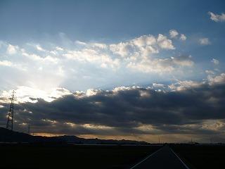 年明け2日、やっと晴れ間が見えました。