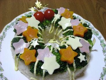 クリスマスリースなお寿司