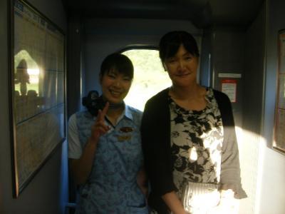 新幹線社内で