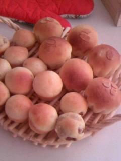 ミニミニ ブドウパン ブリオッシュ型パン たくさん