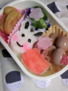 幼稚園弁当 ウサギ&チューリップ