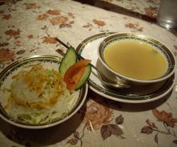 サラダ&チキンスープ