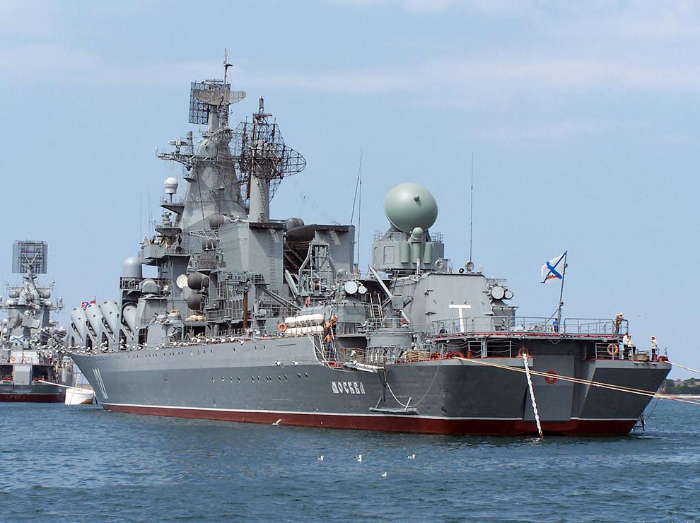 黒海艦隊ミサイル巡洋艦「モスク...