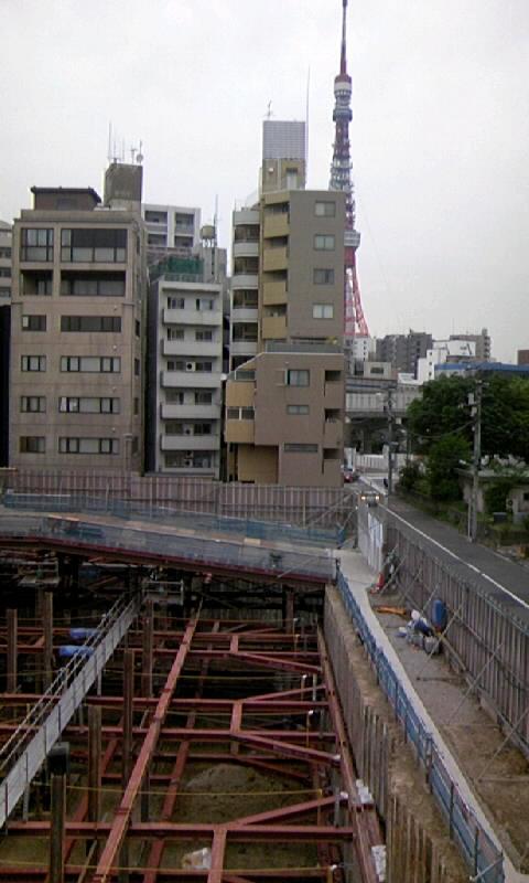 三田小山町現場6月東京タワー
