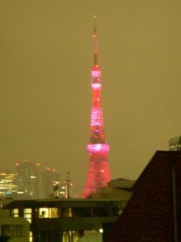 写真ピンクの東京タワー