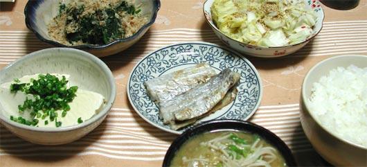 太刀魚のある食卓