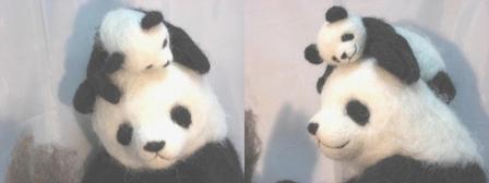 お疲れ子パンダ