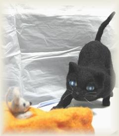 黒猫とネズミ