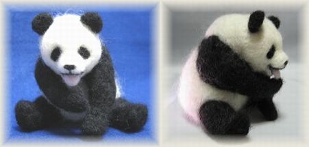 パンダの身づくろい